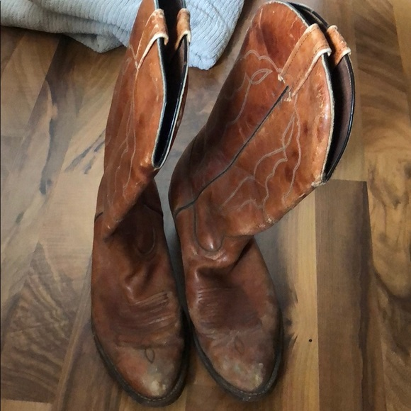 8e5910e8636 Genuine Leather Cowboy Boots! Size 9